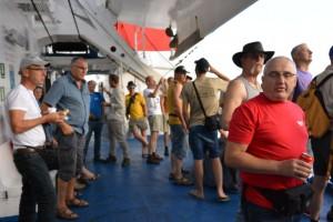 mannen op de boot